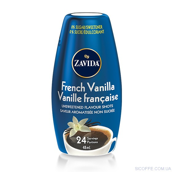 "Сироп Zavida French Vanilla Flavor Shots To Go ""Французская Ваниль"" 48ml"